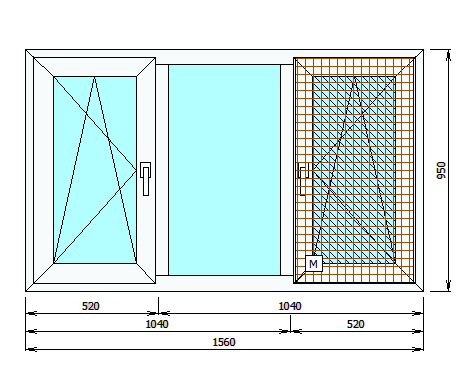 Эскиз окна в программе Суперокна